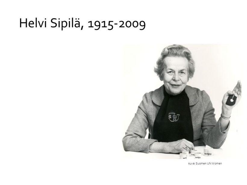Ministeri Helvi Sipilän syntymästä 100 vuotta 5.5.2015
